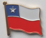 Chile Country Flag Enamel Pin Badge